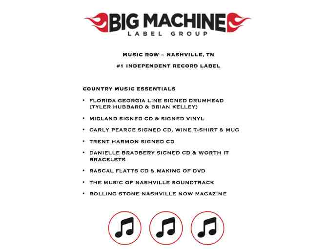 Big Machine Label Autographed Package