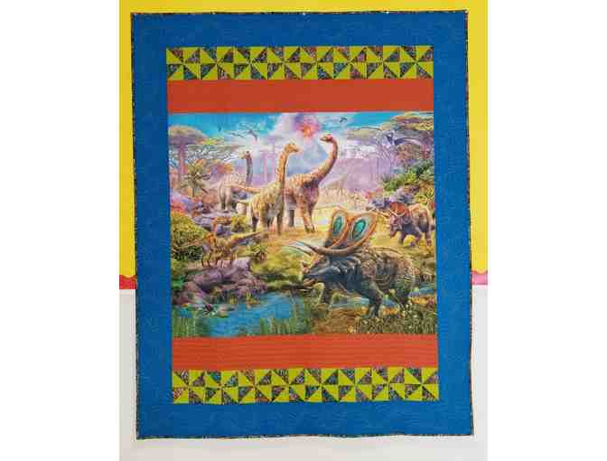 Dinosaur Quilt with Intricate Stitching
