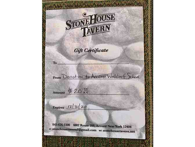 $20 gift certificate to Stone House Tavern in Accord, NY - Photo 1