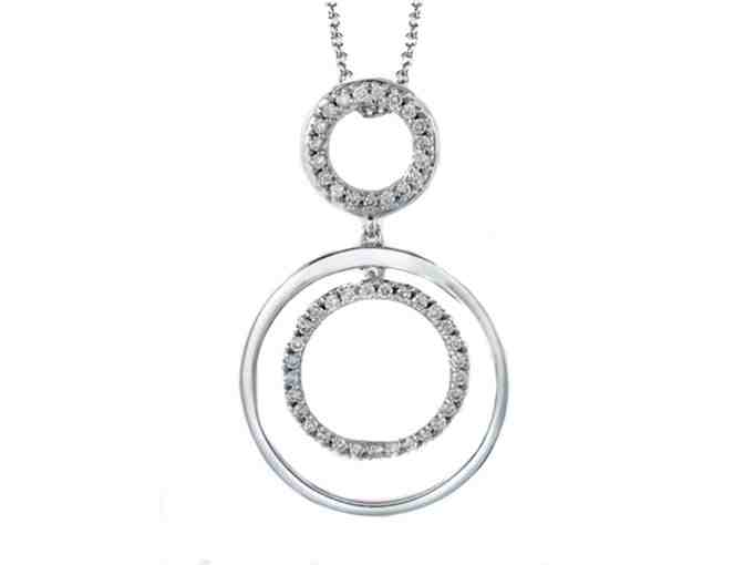 14K White Gold Diamond Pendant<span class=