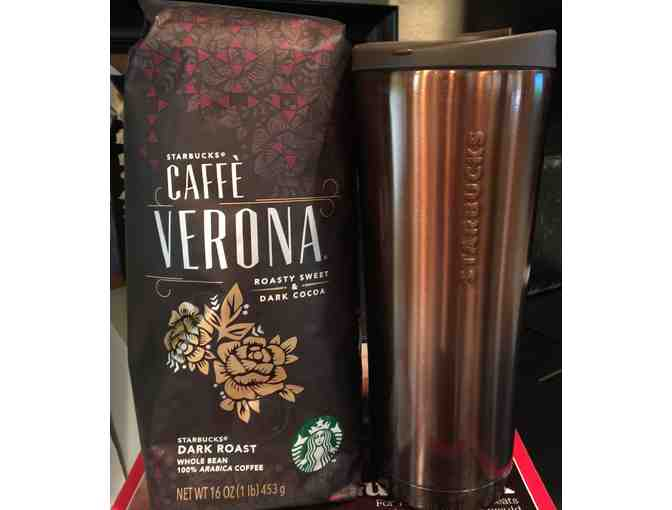 'Wake Up' from  Starbucks Cafe Verona Coffee and Coffee to go Canister