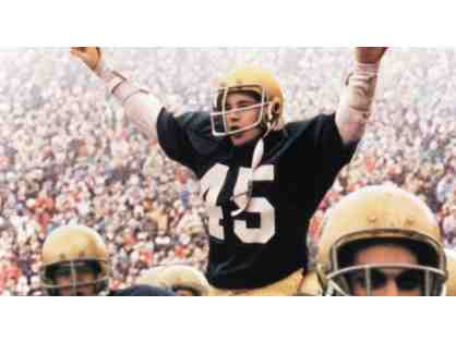 Receive a Video from Notre Dame Legend Rudy Ruettiger