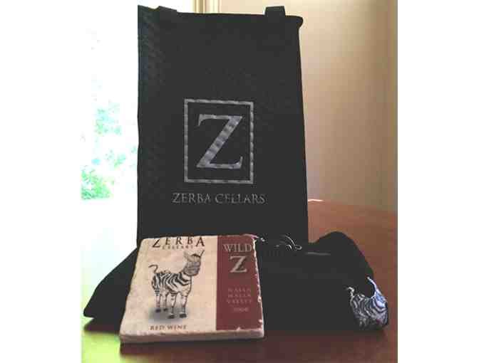 Zerba Cellars Insulated Wine Carrier, T-Shirt, Coaster, and Corkscrew