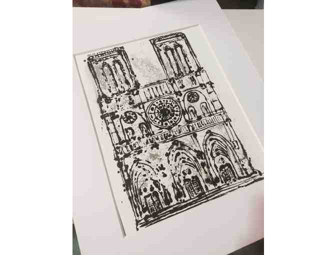 Buzz Siler Matted Print of Notre Dame