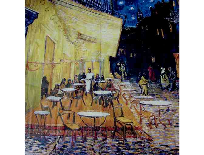 Van Gogh's 'Cafe Terrace at Night' on a Tablecloth from Provence