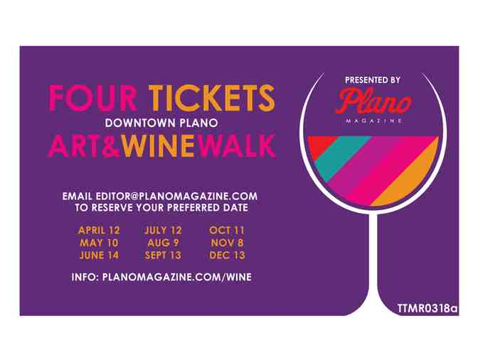 Downtown Plano Arts & Wine Walk