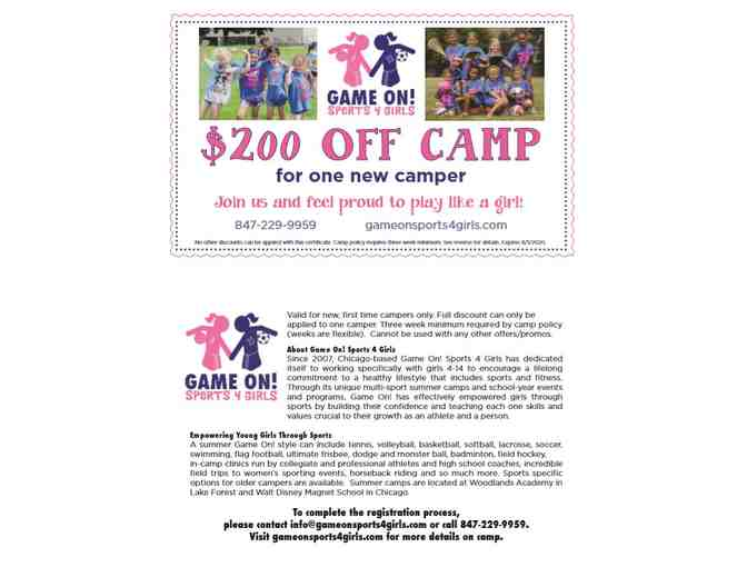 $200 off summer camp