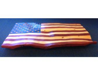 United States Flag, Red Cedar and Pine - Photo 1