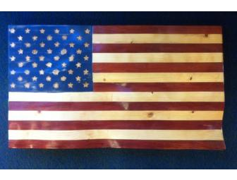 United States Flag, Red Cedar and Pine - Photo 2