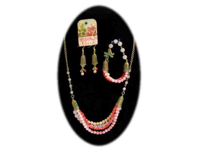 Jade and Agate Bead Jewelry Set