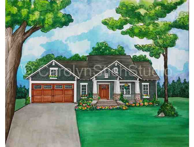 Custom Architectural Painting of Your Home