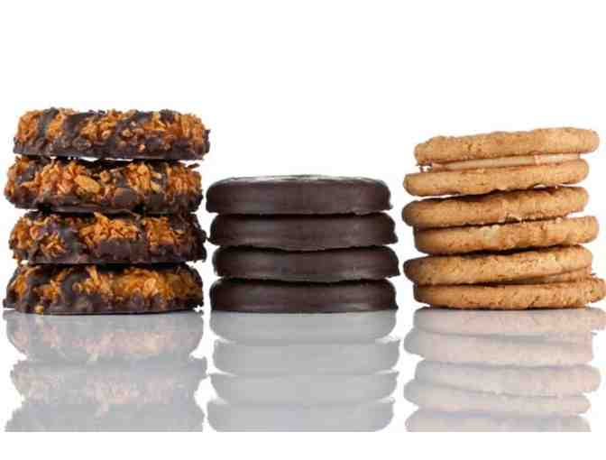 Basket of Girl Scout Cookies with Wine Pairings