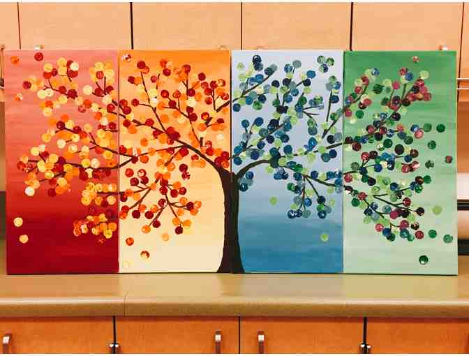 Kindergarten - The Friendship Tree, Panel 3 Cerulean Blue