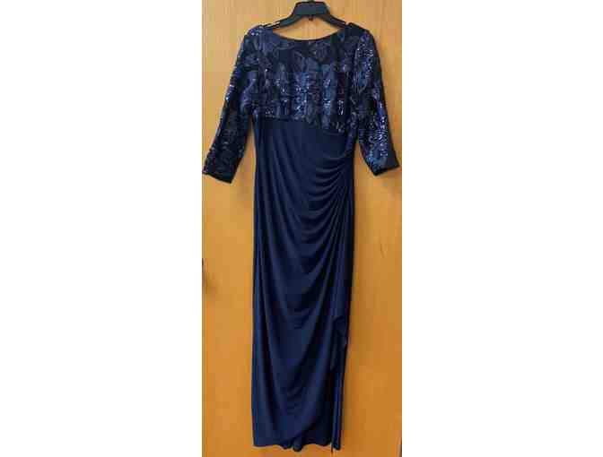 Adrianna Papell Long Sleeve Sequined Gown