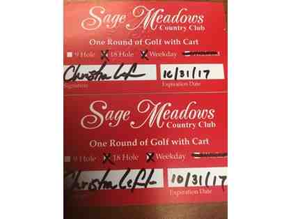 2 rounds of Golf from Sage Meadows Country Club in Jonesboro