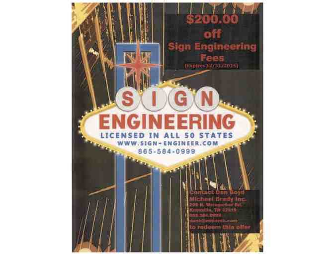Sign engineering services