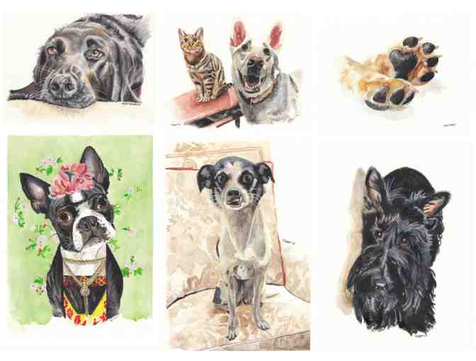 8 x 10 Watercolor Pet Portrait - Photo 1