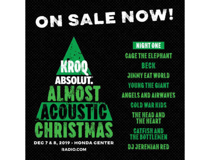 4 Tickets & Parking Pass to KROQ Acoustic Christmas - Photo 1
