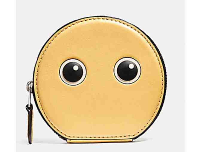 COACH EYES ROUND COIN CASE IN GLOVETANNED LEATHER - NWT - Photo 1