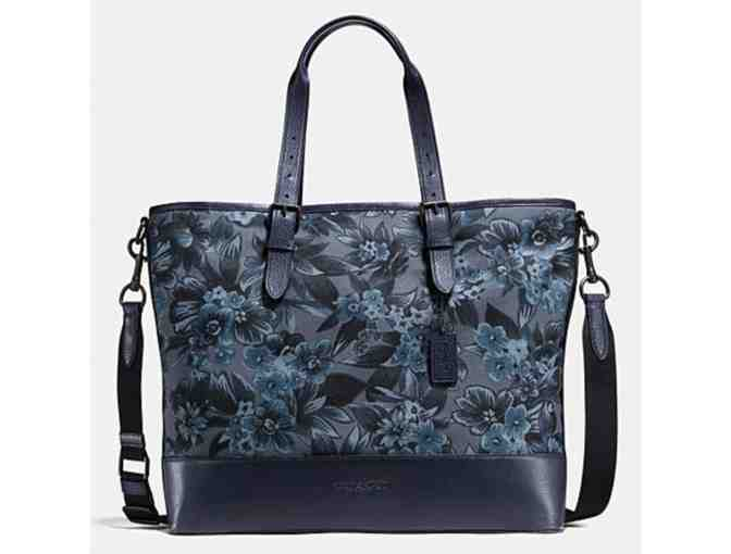 LOWERED! COACH MERCER TOTE IN FLORAL HAWAIIAN PRINT CANVAS - NWT - Photo 1