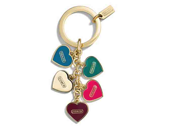 COACH MULTI HEART MULTI MIX KEY RING - NWT - Photo 1