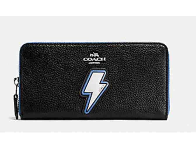 COACH LIGHTNING BOLT ACCORDION ZIP WALLET - NWT - Photo 1