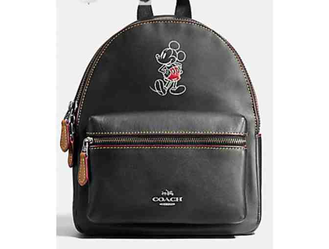 COACH MINI CHARLIE BACKPACK  WITH MICKEY - NWT - Photo 1