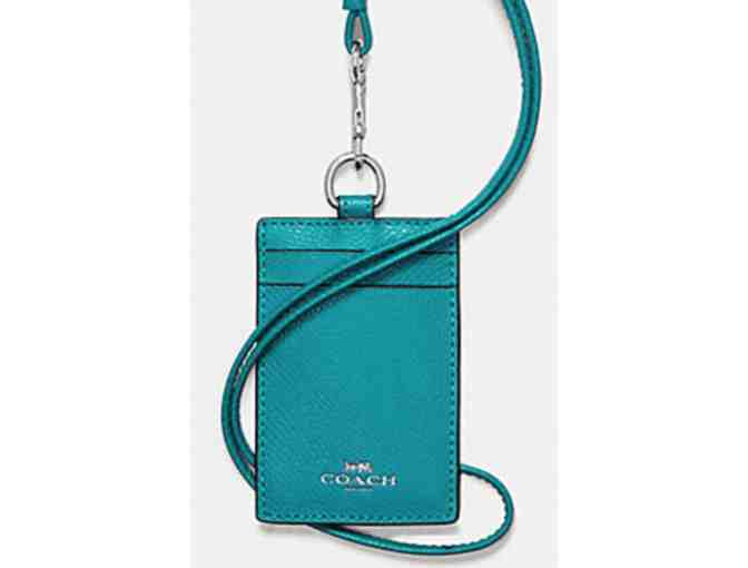 COACH ID LANYARD - TURQUOISE NWT - Photo 1