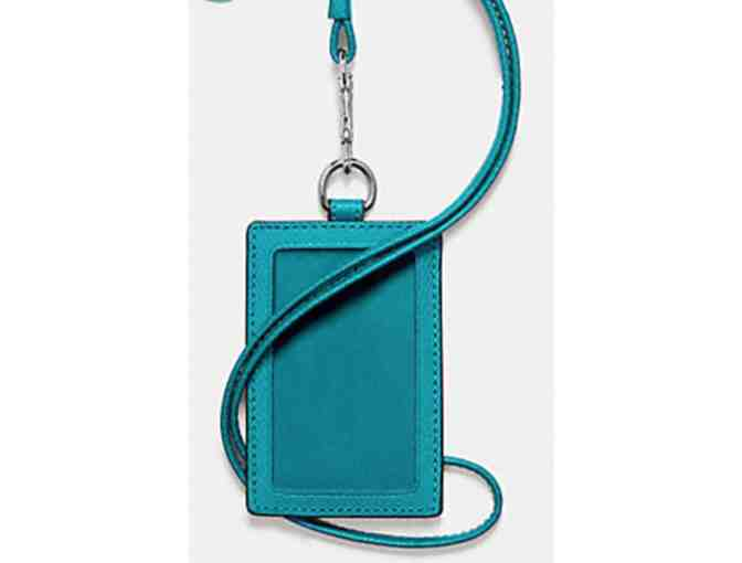 COACH ID LANYARD - TURQUOISE NWT - Photo 2