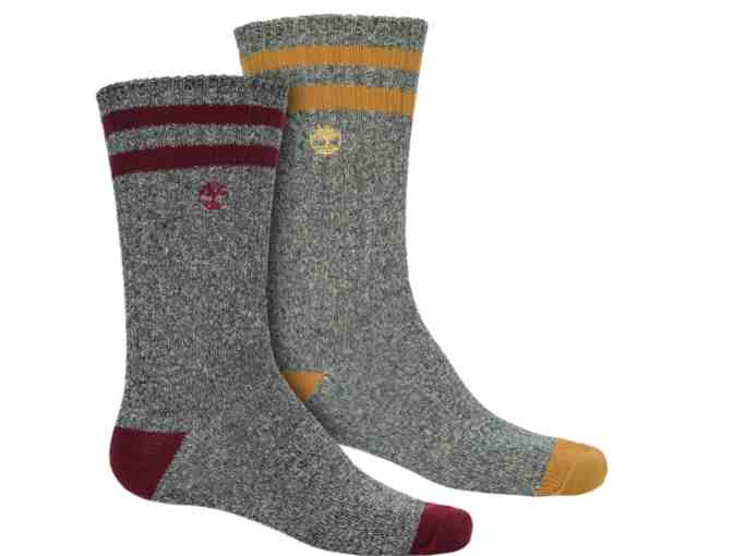 Timberland Marled Hiking Socks - 2-Pack, Crew (For Men) - Photo 1