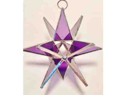 3-D Stained Glass Star - Amythest