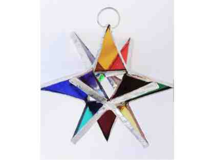 3-D Stained Glass Star - Rainbow