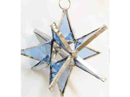 3-D Stained Glass Star - Sky Blue