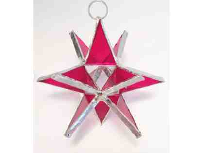 3-D Stained Glass Star - Ruby Red