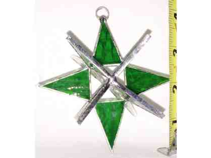 3-D Stained Glass Star - Sea Green - 4