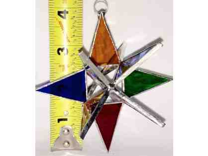 3-D Stained Glass Star - Rainbow - 4