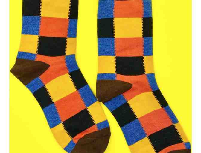 Mod Color Block Crew Socks - Photo 1