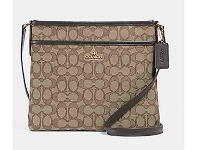COACH FILE CROSSBODY IN SIGNATURE JACQUARD - Photo 1