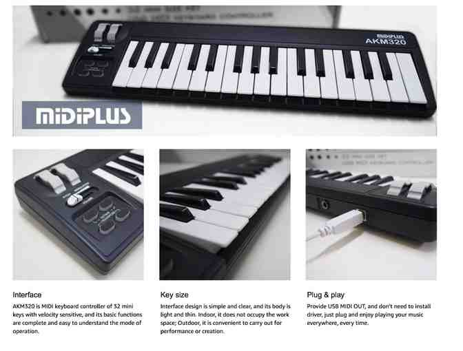 MidiPlus AKM 320 Keyboard - Photo 1