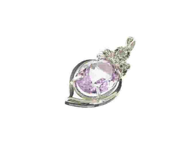 Amethyst and White Sapphire Pendant - Photo 1