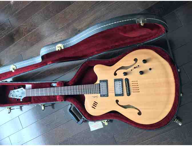 Godin Flat Five X hollowbody guitar. - Photo 1