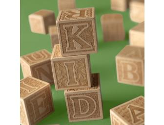 Hardwood Maple Heirloom ABC Blocks