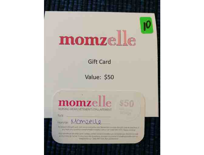 Momzelle.com $50 gift card
