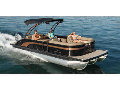 8 Passenger Pontoon Boat Rental and $100 Gift Card to Stone Water