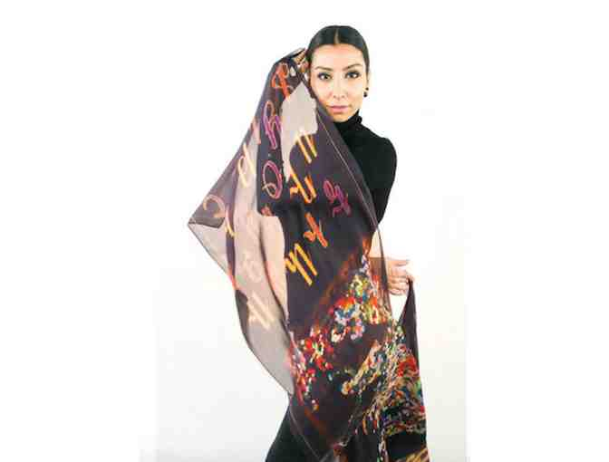 Armenian Alphapet Scarf By Anet's Collection