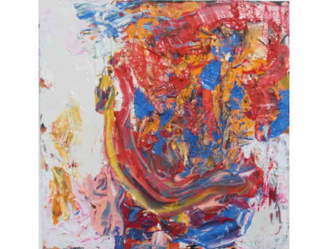 Acrylic abstract on board by NYC artist