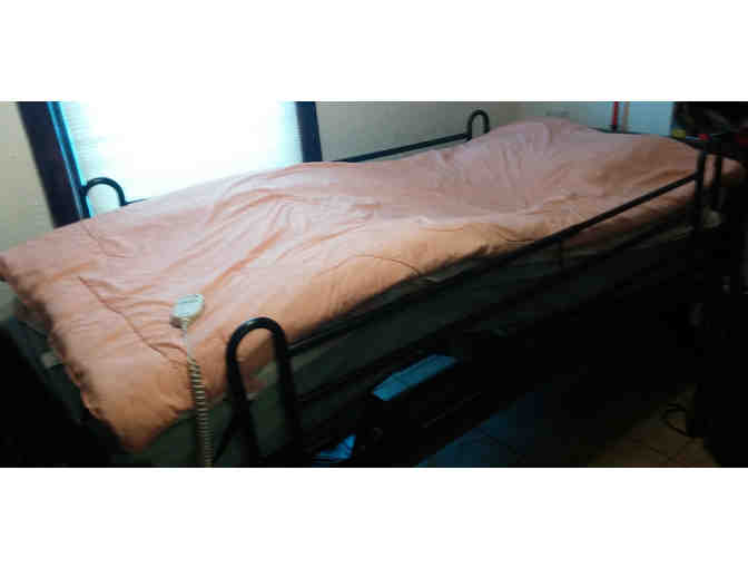 electric hospital bed with full bars