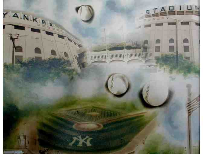NY Yankee licensed photograph,art signed by artist