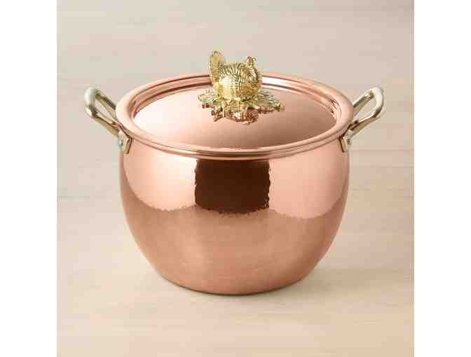Ruffoni Historia Copper Stock Pot with Turkey Finial
