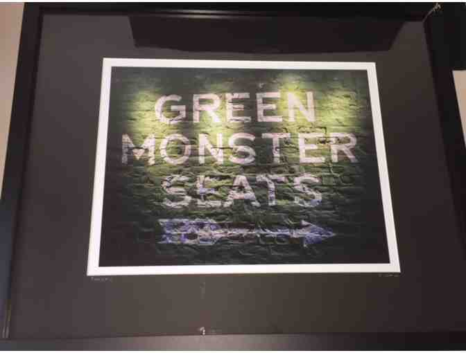 Fenway's Green Monster Seats - Framed Photograph